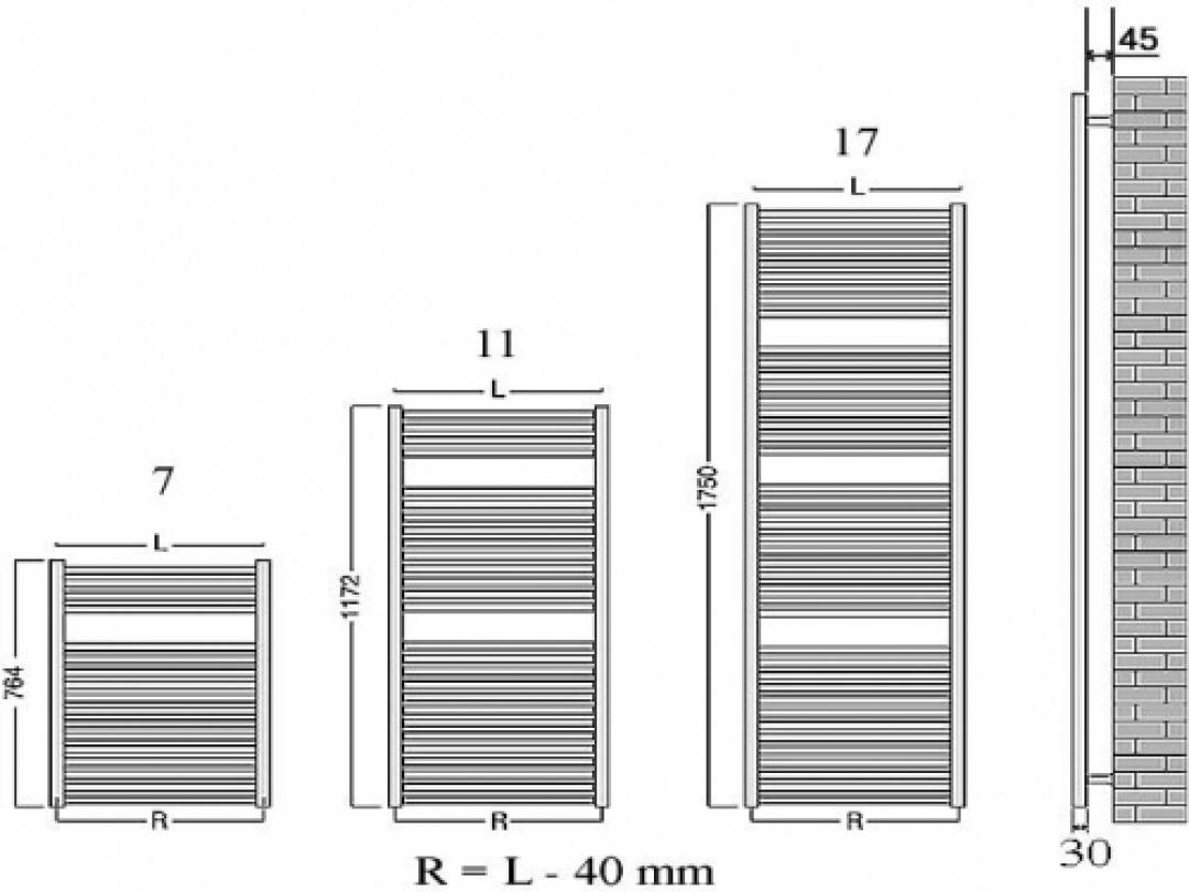 Veraline Economy Handdoekradiator.Veraline Economy